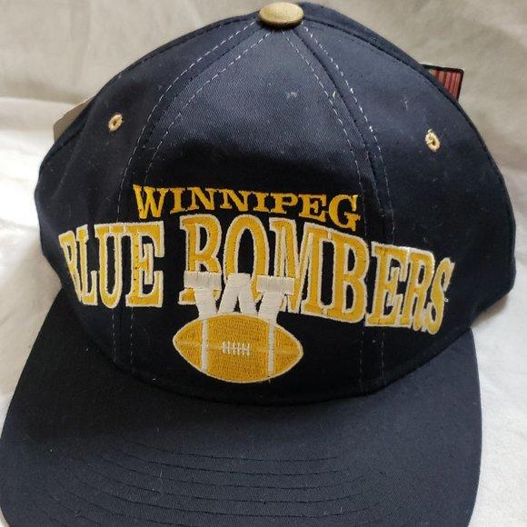 WINNIPEG BLUE BOMBERS CFL FOOTBALL HAT BY STARTER